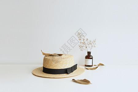 夏日草帽图片