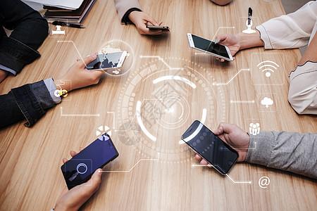 手机电话会议图片