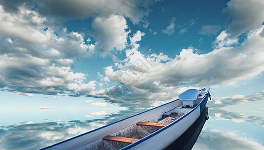 湖面上的船图片