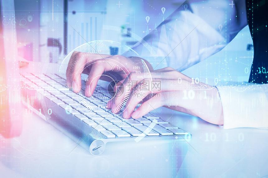 键盘科技数据输出图片