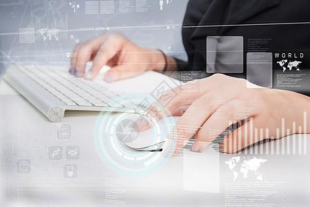 现代电脑操作科技图片