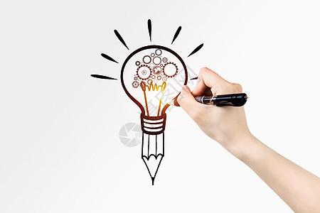商业图标铅笔手绘灯图片
