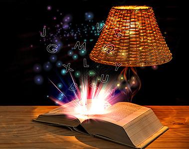 发光的书籍图片