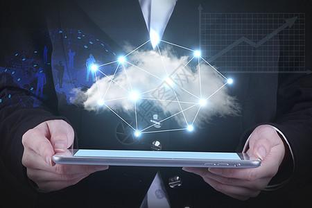 平板里的云端科技图片
