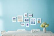 清新客厅静物相框组合图片