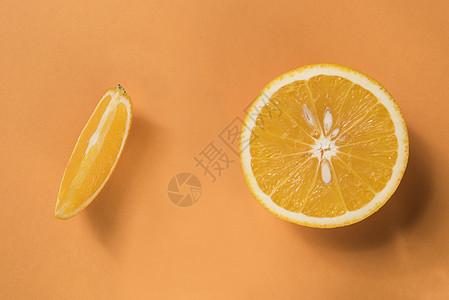 纯背景橙子静物图片