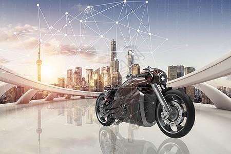 科技感炫酷摩托图片