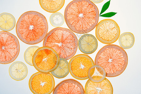 透光水果切面红柚橙子图片