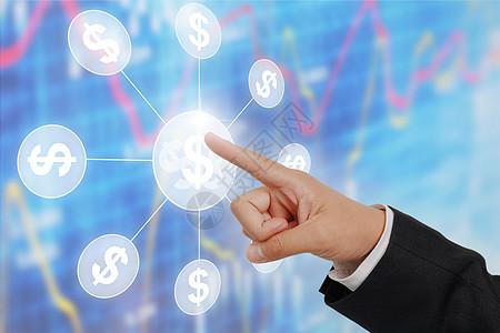 商务科技手指图片