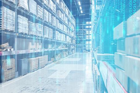 仓库储物商品信息科技图片