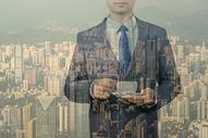 商务人士城市背景图图片