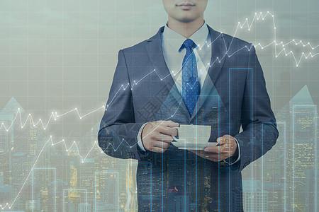 商务人士互联网商业背景图图片