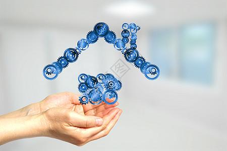 建筑齿轮科技图片