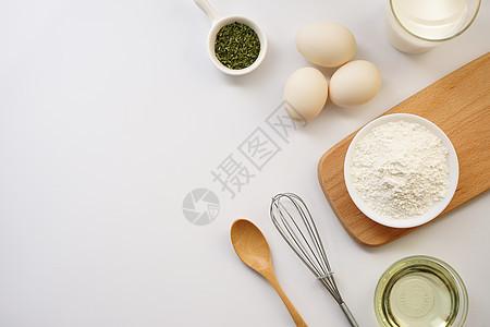 食材面粉鸡蛋图片