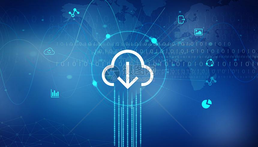 云上传图标线连接电路板