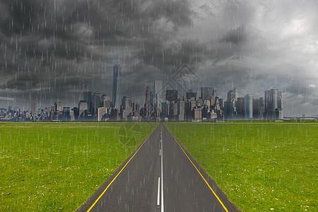 大雨倾盆图片