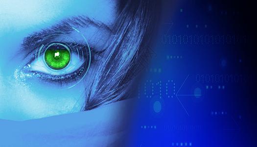 眼睛里的未来科技图片