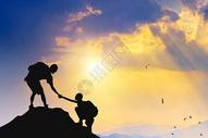 攀岩剪影图片