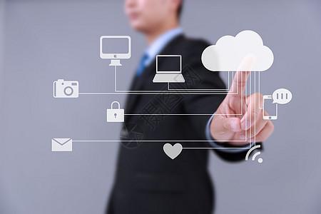 男士点击云端互联网科技图片