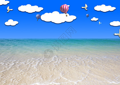 假日沙滩图片