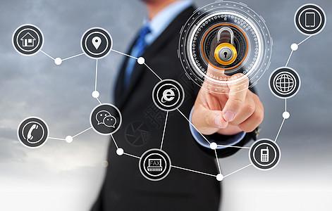 商务科技手指 图片