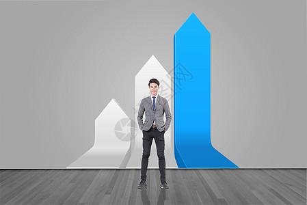 成功人士业绩增长图片
