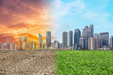 全球变暖对城市的影响图片