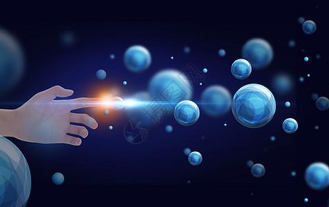 手指点击分子结构图片