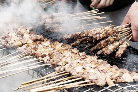 西安回民街羊肉串图片