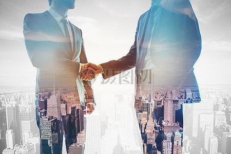 商务团队握手合作图片