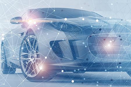 科技感线条汽车图片