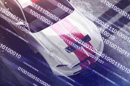 飞驰的赛车图片