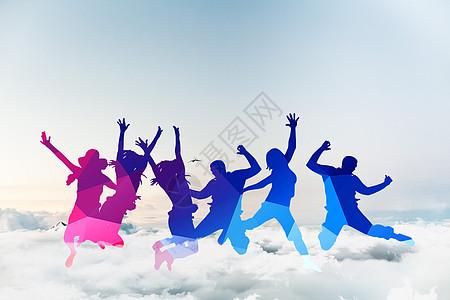 云上跳舞人图片