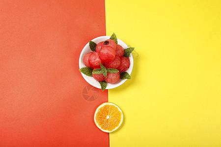 西瓜橙子图片图片