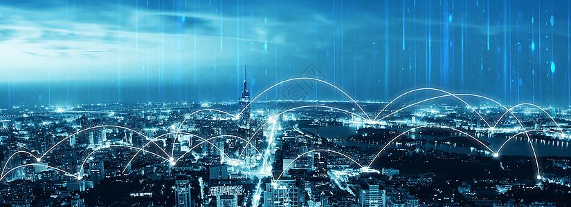 科技信号下的城市图片