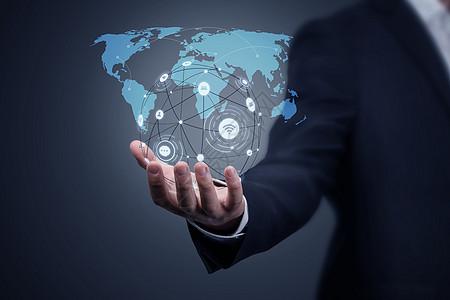 全球化科技商务背景图片