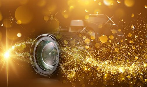 微距相机背景图片