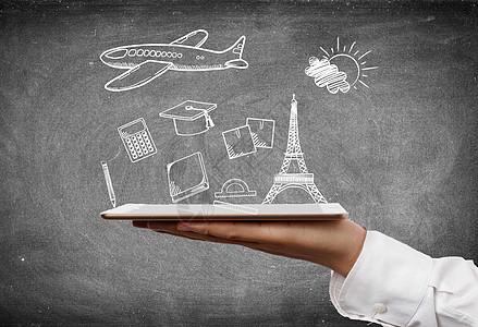 网络与出国留学图片
