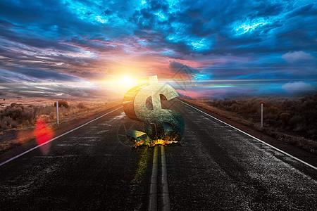 钱砸公路图片