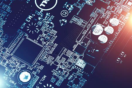 芯片电子电路板科技素材高清图片