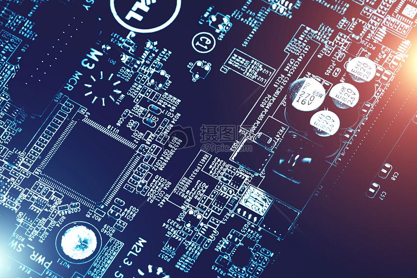 芯片电子电路板科技素材