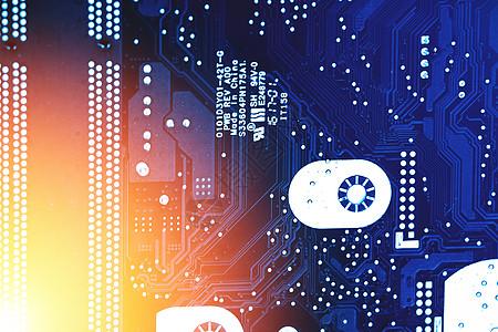 芯片电子电路板科技素材图片