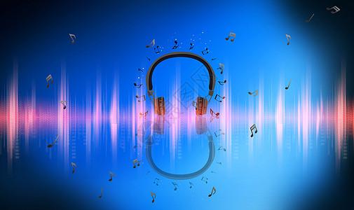 耳机音波图片