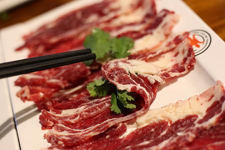 涮牛肉肥牛片图片
