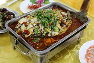 烤鱼干锅脆鱼图片