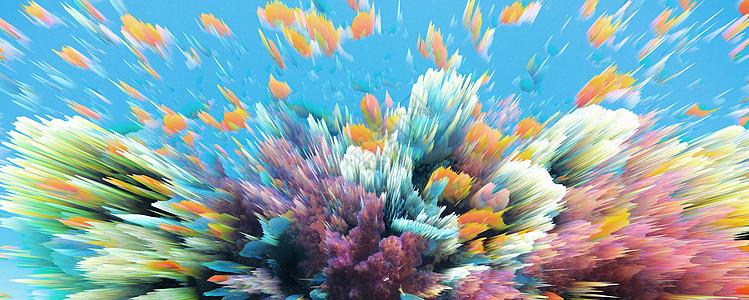 奇幻3D海底世界背景图片
