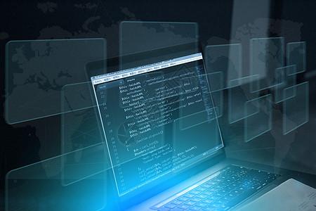 电脑编程科技背景图片