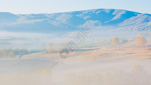 草原风景背景图片