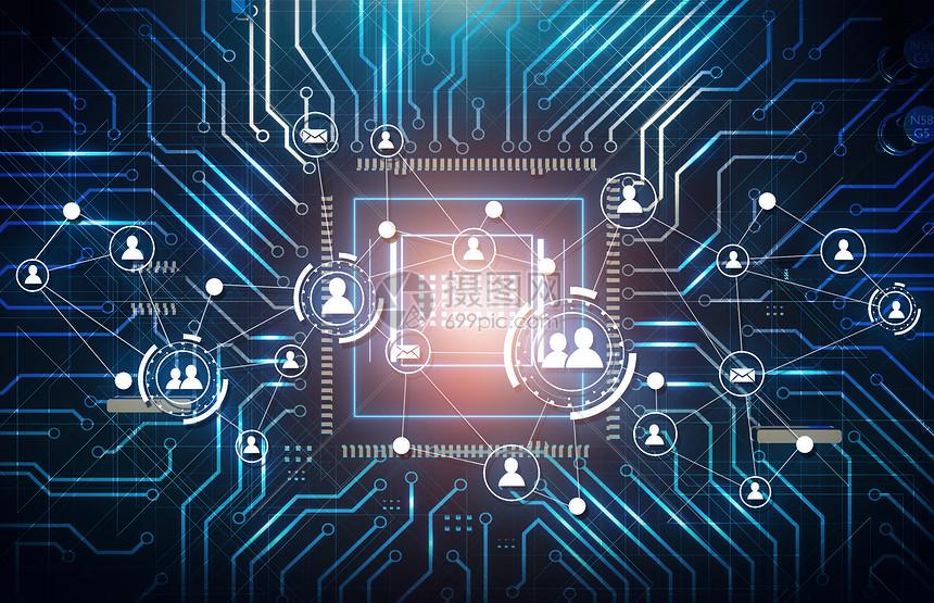科技感电路板