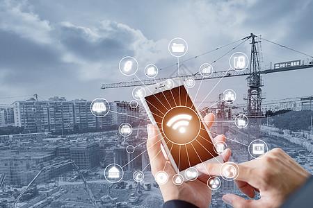 商务手机城市图片